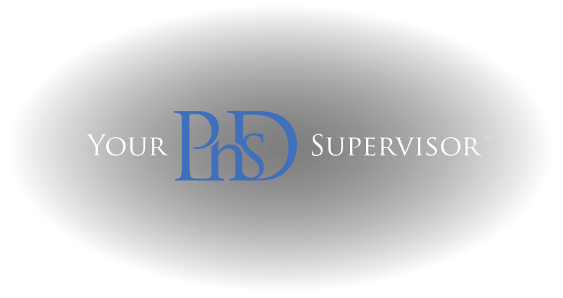 YourPhDSupervisor.com - expert advise and guidance for every step of your PhD